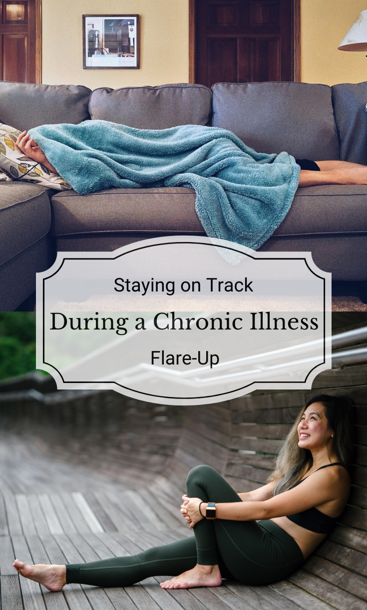A chronic illness flare-up can be difficult, both physically and emotionally. Here are some tips for keeping your flare-up from derailing your fitness goals.